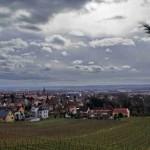 Blick über Radebeul und Dresden